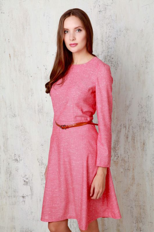Платья ручной работы. Ярмарка Мастеров - ручная работа. Купить Платье красное приталенное. Handmade. Шерсть, скидка 50%