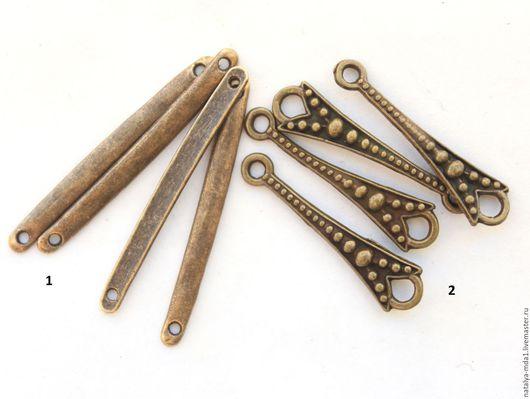 Для украшений ручной работы. Ярмарка Мастеров - ручная работа. Купить Палочки-коннекторы античная бронза. Handmade. Хаки