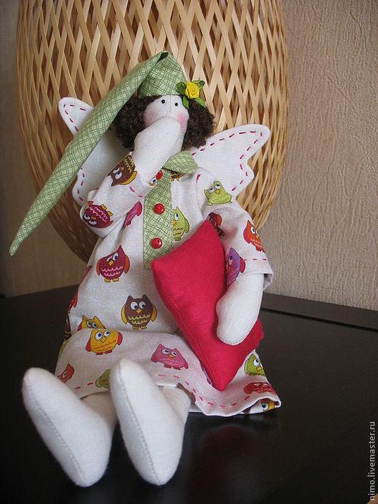 Куклы Тильды ручной работы. Ярмарка Мастеров - ручная работа. Купить Интерьерная кукла Сонный ангел. Handmade. Ангел тильда