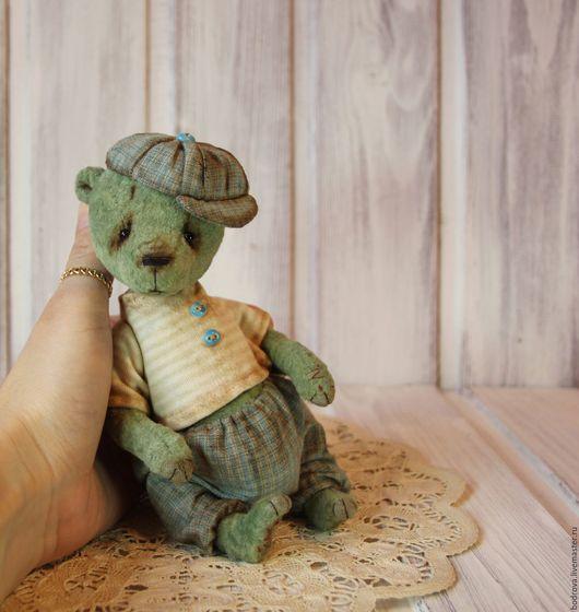 Мишки Тедди ручной работы. Ярмарка Мастеров - ручная работа. Купить Сережа. Handmade. Зеленый, плюш