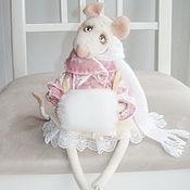 Куклы и игрушки ручной работы. Ярмарка Мастеров - ручная работа Мышка Мишель, войлочная игрушка, игрушка в подарок.. Handmade.