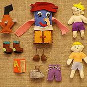 Куклы и игрушки ручной работы. Ярмарка Мастеров - ручная работа Фетровая сказка Мойдодыр. Handmade.