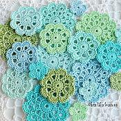 Материалы для творчества handmade. Livemaster - original item A set of knitted items Sea breeze. Handmade.