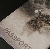 Канцелярские товары ручной работы. Ярмарка Мастеров - ручная работа Обложка на паспорт. Handmade.