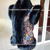 """Одежда ручной работы. Ярмарка Мастеров - ручная работа Жилетка с капюшоном """"Тайна сердца""""черный. Handmade."""