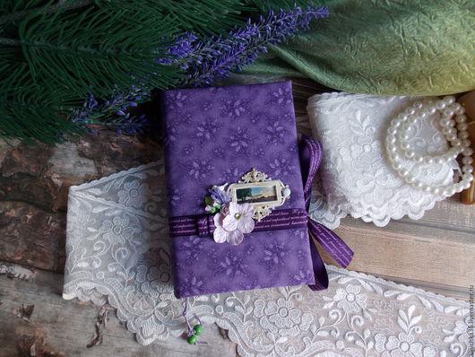 """Блокноты ручной работы. Ярмарка Мастеров - ручная работа. Купить Блокнот""""Лавандовые поля"""". Handmade. Фиолетовый, блокнот для девушки, ручная работа"""