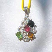 Украшения handmade. Livemaster - original item Pendant with natural tourmalines. Handmade.