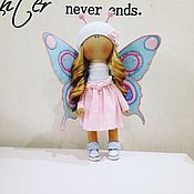 Куклы и игрушки ручной работы. Ярмарка Мастеров - ручная работа Интерьерная куколка-бабочка. Handmade.