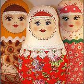 Матрёшка раскраска. Русская народная игрушка