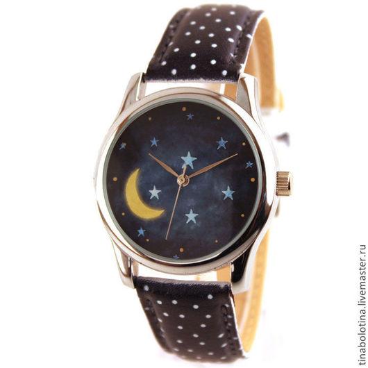 Часы ручной работы. Ярмарка Мастеров - ручная работа. Купить Дизайнерские наручные часы Ночное Время. Handmade. Оригинальные часы