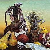 Картины и панно handmade. Livemaster - original item Painting still Life with dried persimmon. Handmade.