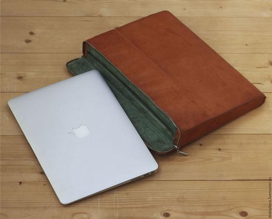 Сумки для ноутбуков ручной работы. Ярмарка Мастеров - ручная работа. Купить Защитный чехол для Macbook Air 13 кожаный. Handmade.