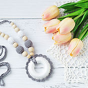 Одежда handmade. Livemaster - original item Slingobusy (slingatron) grey flower. Handmade.