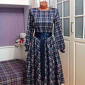 Одежда ручной работы. Ярмарка Мастеров - ручная работа Трикотажное платье миди Гвендолин. Handmade.