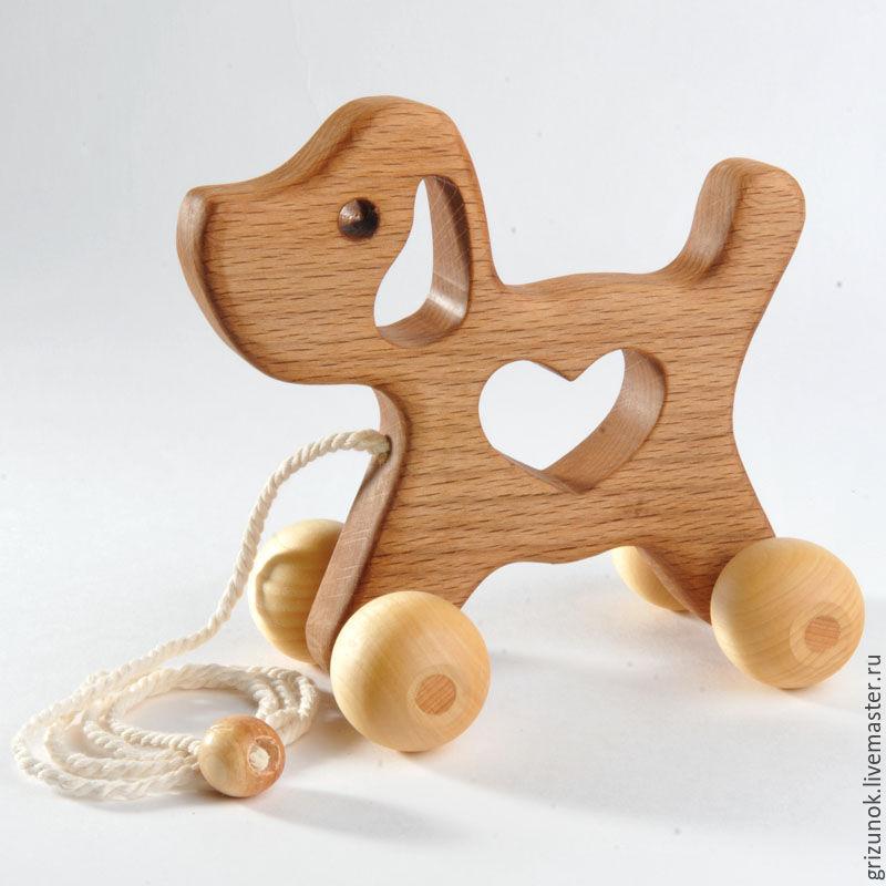 Простые игрушки из дерева для детей