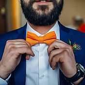 Аксессуары handmade. Livemaster - original item Bow tie Orange sky / gift guy orange wedding. Handmade.