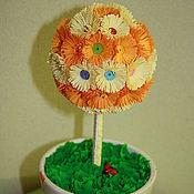 """Цветы и флористика ручной работы. Ярмарка Мастеров - ручная работа Топиарий """"Оранжевое настроение"""". Handmade."""