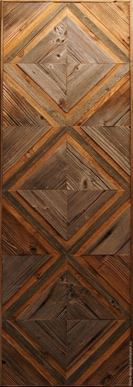 Абстракция ручной работы. Ярмарка Мастеров - ручная работа. Купить Панно из старой древесины RN07. Handmade. Темно-серый