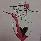 Картины и панно ручной работы. Ярмарка Мастеров - ручная работа Дама с сигарой. Handmade.