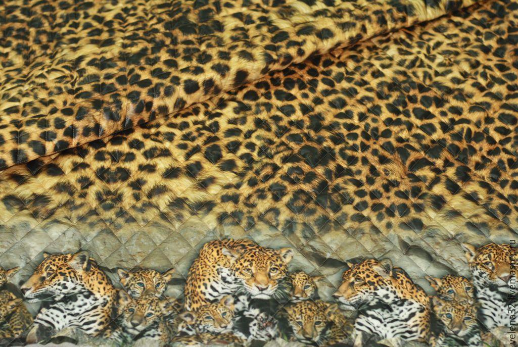 """Шитье ручной работы. Ярмарка Мастеров - ручная работа. Купить Новинка! Курточная ткань """"Леопардики"""". Handmade. Коричневый, леопард"""