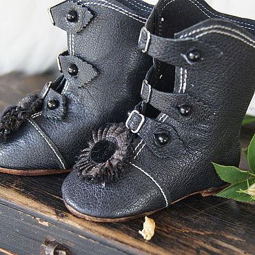 """Куклы и игрушки ручной работы. Ярмарка Мастеров - ручная работа Обувь для Антикварной куклы """"Black sunflower"""". Handmade."""