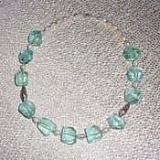 Украшения handmade. Livemaster - original item Necklace made of Aqua quartz, river pearls and 925 silver. Handmade.