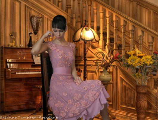 """Платья ручной работы. Ярмарка Мастеров - ручная работа. Купить Авторское  платье """"Розовое"""". Handmade. Ирландское кружево, кружевное платье"""