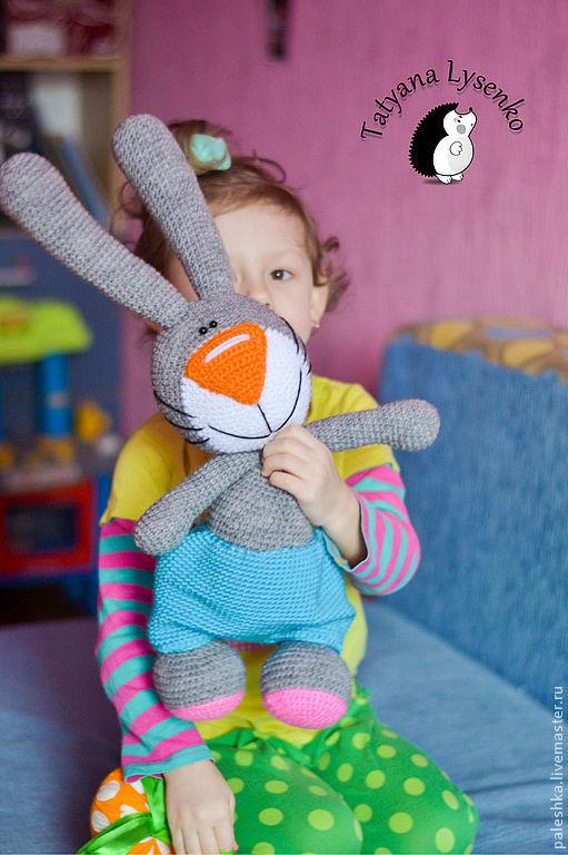 Вязание ручной работы. Ярмарка Мастеров - ручная работа. Купить Мастер-класс по вязанию пасхального кролика. Handmade. Серый, амигуруми