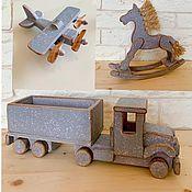 handmade. Livemaster - original item Wooden toys Airplane and Truck. Handmade.
