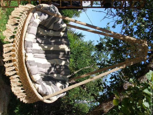 Мебель ручной работы. Ярмарка Мастеров - ручная работа. Купить Подвесное кресло. Handmade. Бежевый, садовая мебель, джутовая верёвка