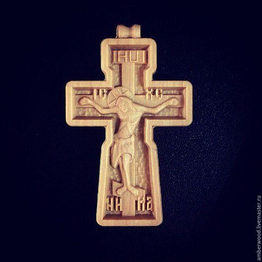 Украшения для мужчин, ручной работы. Ярмарка Мастеров - ручная работа. Купить Православный Крестик из дерева. Handmade. Резьба, православный подарок