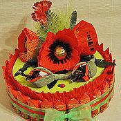 """Цветы и флористика ручной работы. Ярмарка Мастеров - ручная работа Букет из конфет """"Тортик"""". Handmade."""