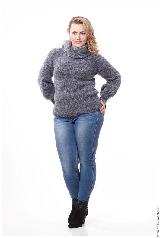 Женский вязаный свитер с горлом доставка