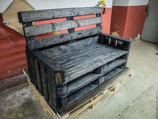 Мебель ручной работы. Ярмарка Мастеров - ручная работа. Купить Диван из паллет. Handmade. Коричневый, диван, масло, краска, сосна