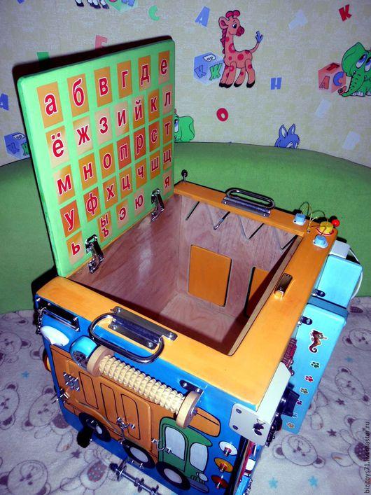 Развивающие игрушки ручной работы. Ярмарка Мастеров - ручная работа. Купить Бизибокс- ящик для хранения!Бизиборд. Handmade. Комбинированный, развивающая доска