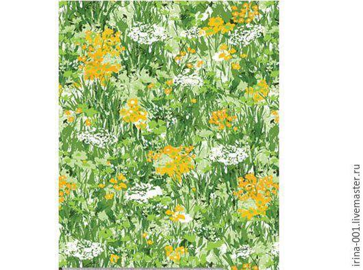 Шитье ручной работы. Ярмарка Мастеров - ручная работа. Купить GARDEN PARTY панель 60х110 см. Handmade. Зеленый, одеяло