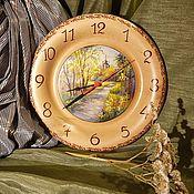 Подарки к праздникам ручной работы. Ярмарка Мастеров - ручная работа Часы из кедра серия Пейзаж. Handmade.