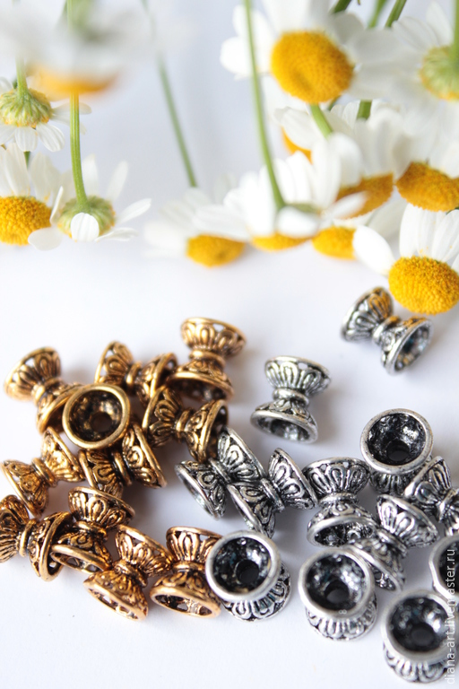 """Для украшений ручной работы. Ярмарка Мастеров - ручная работа. Купить Бусины """" Вазы """". Золото, серебро. Handmade."""