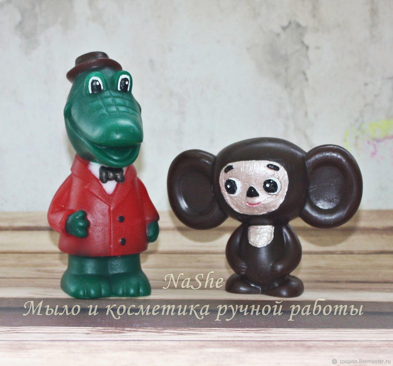 A set of handmade soap ' Crocodile Gene and Cheburashka', Soap, St. Petersburg,  Фото №1