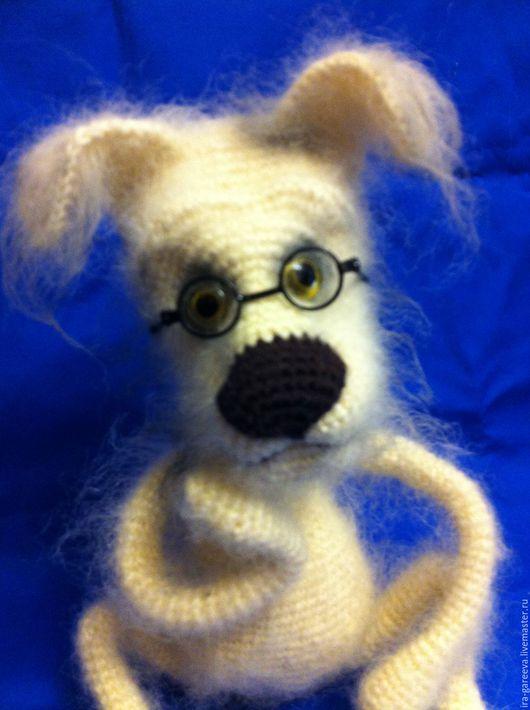 """Игрушки животные, ручной работы. Ярмарка Мастеров - ручная работа. Купить Мастер-класс по вязанию """"Профессор собачьих наук"""". Handmade."""