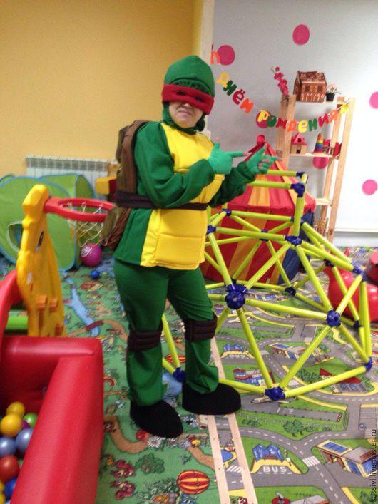 Карнавальные костюмы ручной работы. Ярмарка Мастеров - ручная работа. Купить Черепашка Ниндзя костюм для аниматора. Handmade. Зеленый, ниндзя
