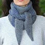 Аксессуары ручной работы. Ярмарка Мастеров - ручная работа Бактус, вязаный шарф-косынка. Handmade.