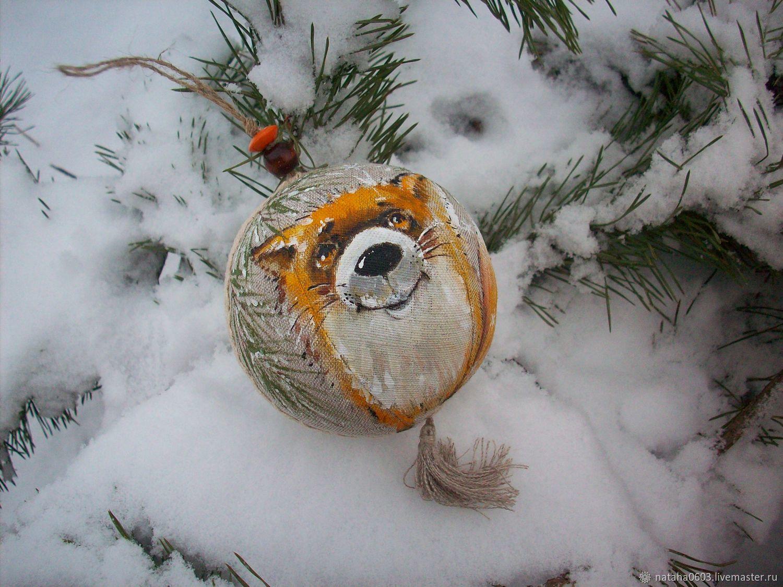 Large Christmas tree ball Chanterelle. len, Christmas decorations, Shuya,  Фото №1