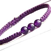 handmade. Livemaster - original item Bracelet with amethyst. Handmade.