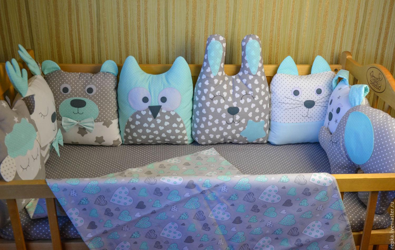 Как сшить бортики подушки в кроватку для новорожденного 27