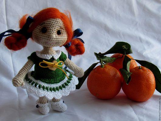 Человечки ручной работы. Ярмарка Мастеров - ручная работа. Купить Куколка Мандаринка. Handmade. Вязаная игрушка, хлопок 100%, интерьер