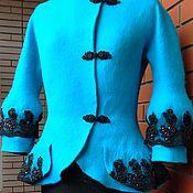 """Одежда ручной работы. Ярмарка Мастеров - ручная работа жакет """"Королевская бирюза"""". Handmade."""