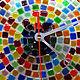 """Часы для дома ручной работы. Фьюзинг. Часы """"Цветная черепаха"""". Стекло.. Елена Ярошенко. Фьюзинг. (glass-hit). Ярмарка Мастеров."""