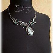 Украшения handmade. Livemaster - original item Necklace with rock crystal and Swarovski crystals. Handmade.