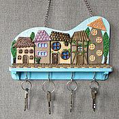 Для дома и интерьера handmade. Livemaster - original item Housekeeper: The Housekeeper Lilac City. The housekeeper wall.. Handmade.